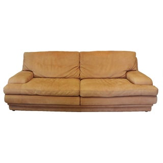 Roche Bobois Vintage Leather Nubuck Couch