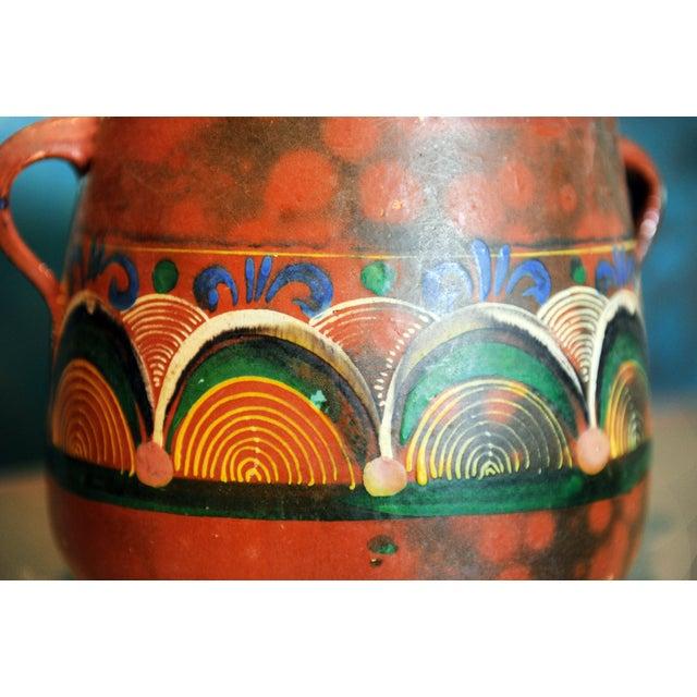 Vintage Tlaquepaque Mexican Clay Pot - Image 3 of 5