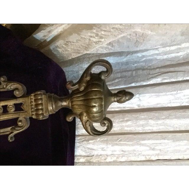 Antique Andiron Set - Image 5 of 5