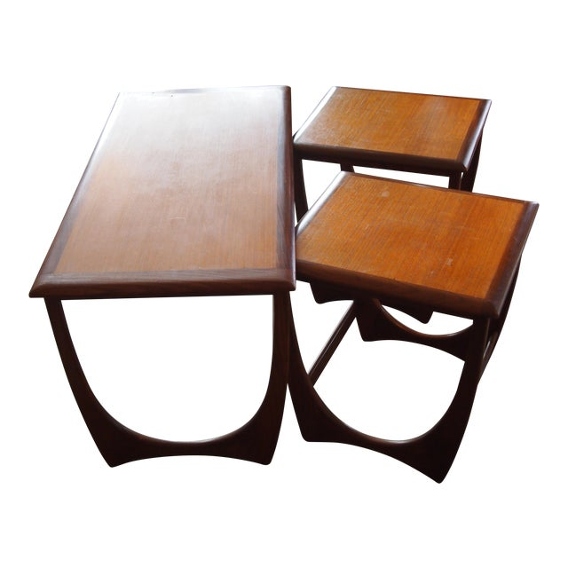 Modern Danish Style Nesting Tables- Set of 3 - Image 1 of 7