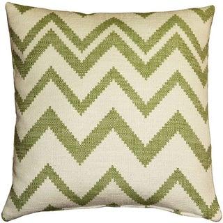 Pillow Decor - Lorenzo Zigzag Green 20x20 Pillow