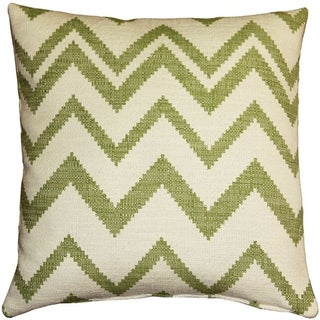 Pillow Decor - Lorenzo Zigzag Green 20x20 Pillow