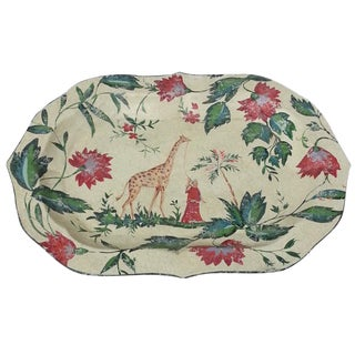 Chinoiserie Tole Chintz Tray
