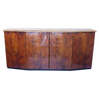 Quality Exotic Grained Art Deco Style Credenza