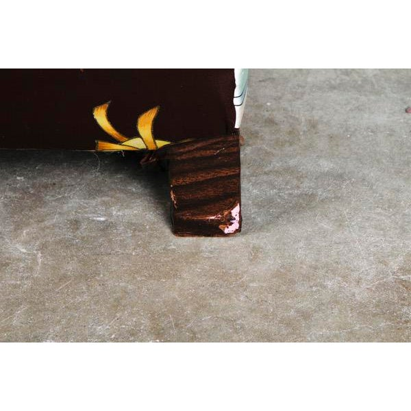 Roberto Cavalli Custom Upholstered Silk Loveseat - Image 9 of 9