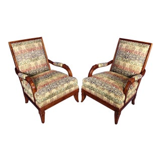 Hickory Chair Lounge Club Chairs - A Pair