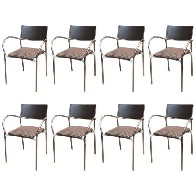 Lowenstein italian modern dining chairs set of 8 chairish for Modern dining chairs ireland