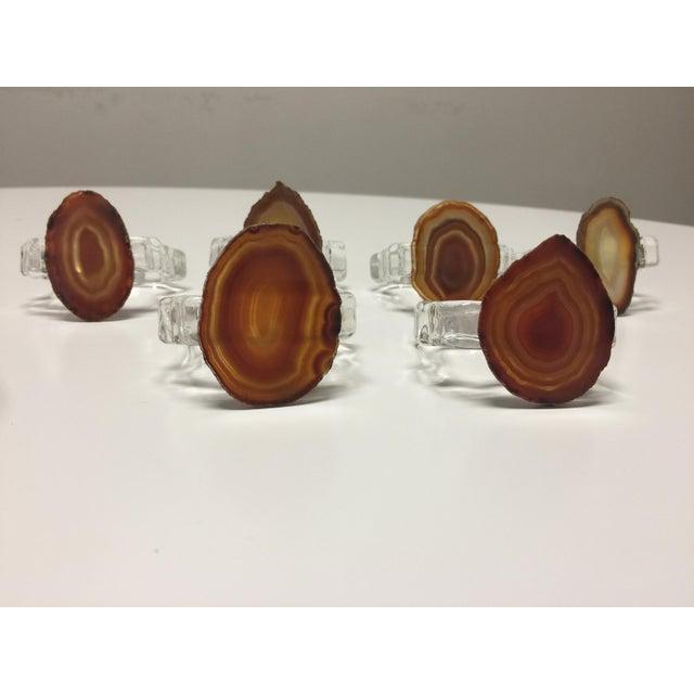 Image of Agate Napkin Rings in Burnt Orange - Set of 6