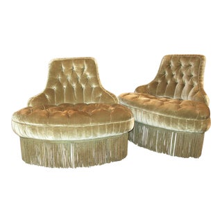Tufted Velvet Chairs - A Pair