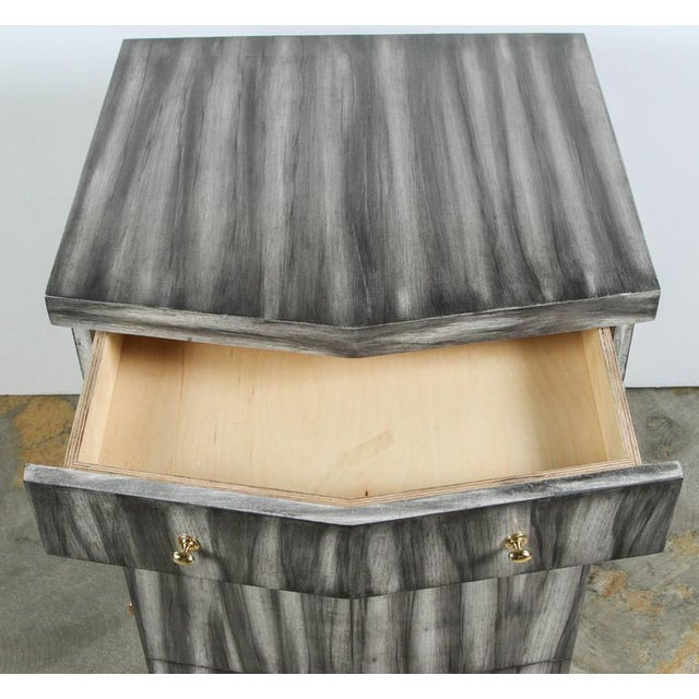Customizable Paul Marra Pinnacle Nightstand in Zebra Finish - Image 7 of 9