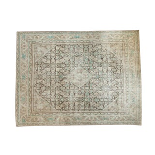"Vintage Distressed Mahal Carpet - 9'4"" x 12'1"""