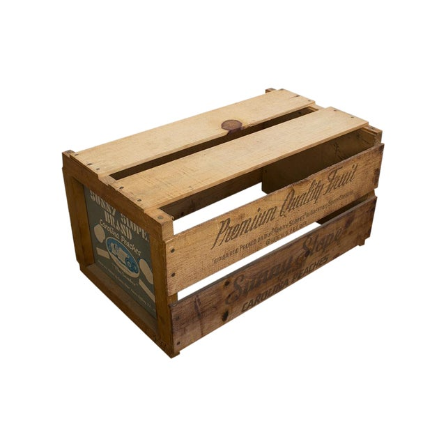 vintage peach crate chairish