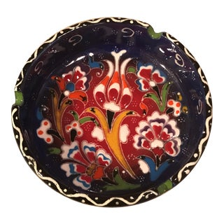 Hand-Painted Ceramic Ashtray
