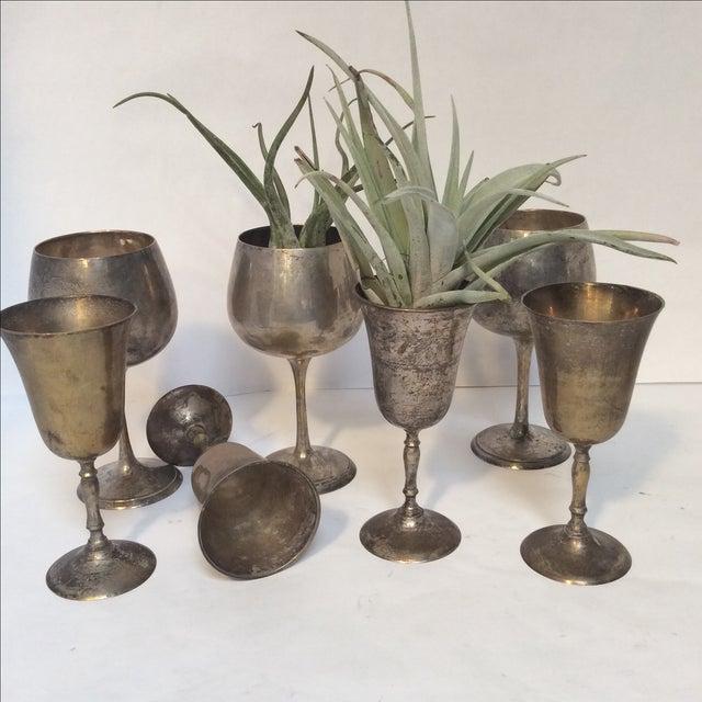 Image of Vintage Silverplate Goblets - Set of 12