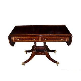 Hollywood Regency Rosewood Sofa Table
