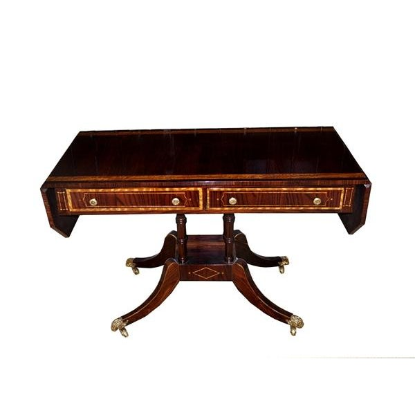 Image of Hollywood Regency Rosewood Sofa Table