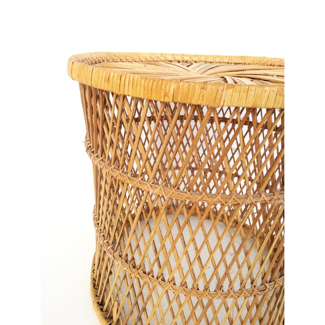 Vintage Rattan Stool Plant Stand - Image 5 of 5