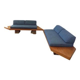 Vintage Mid-Century Wood Sofa Set