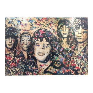 "Mr. Brainwash Original Pop Art Lithograph Print Poster ""the Rolling Stones"""