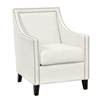Ivory Upholstered Linen Club Chair