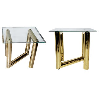 Karl Springer Z-Shaped Side Tables - A Pair