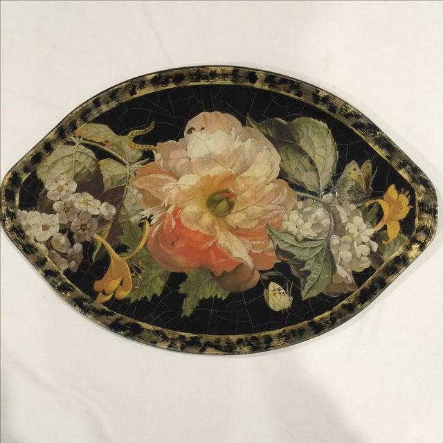 Image of Lesley Roy Vineyard Capri Black Bowl & Platter - 2