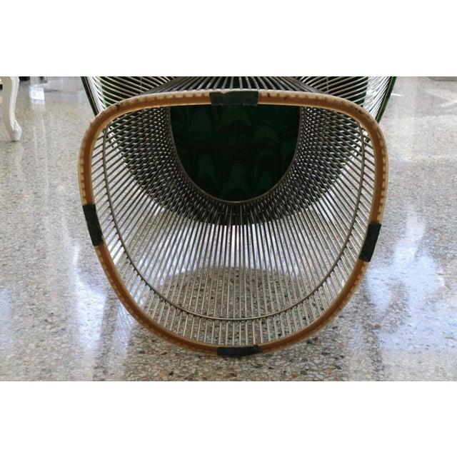 Warren Platner for Knoll Marble Table, Four Chairs, Jack Lenor Larsen Fabric - Image 10 of 10