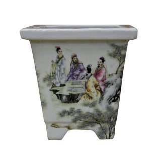 Chinese Ceramic Scholar Planter