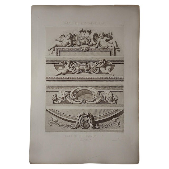 Image of Large Antique Sepia Architectural Engraving