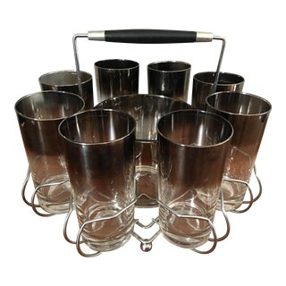 Dorothy Thorpe Silver Ombré Glasses & Ice Bucket