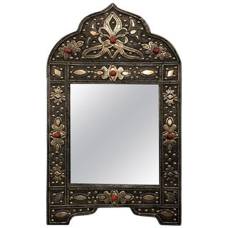 Diminutive Metal Wall or Vanity Mirror