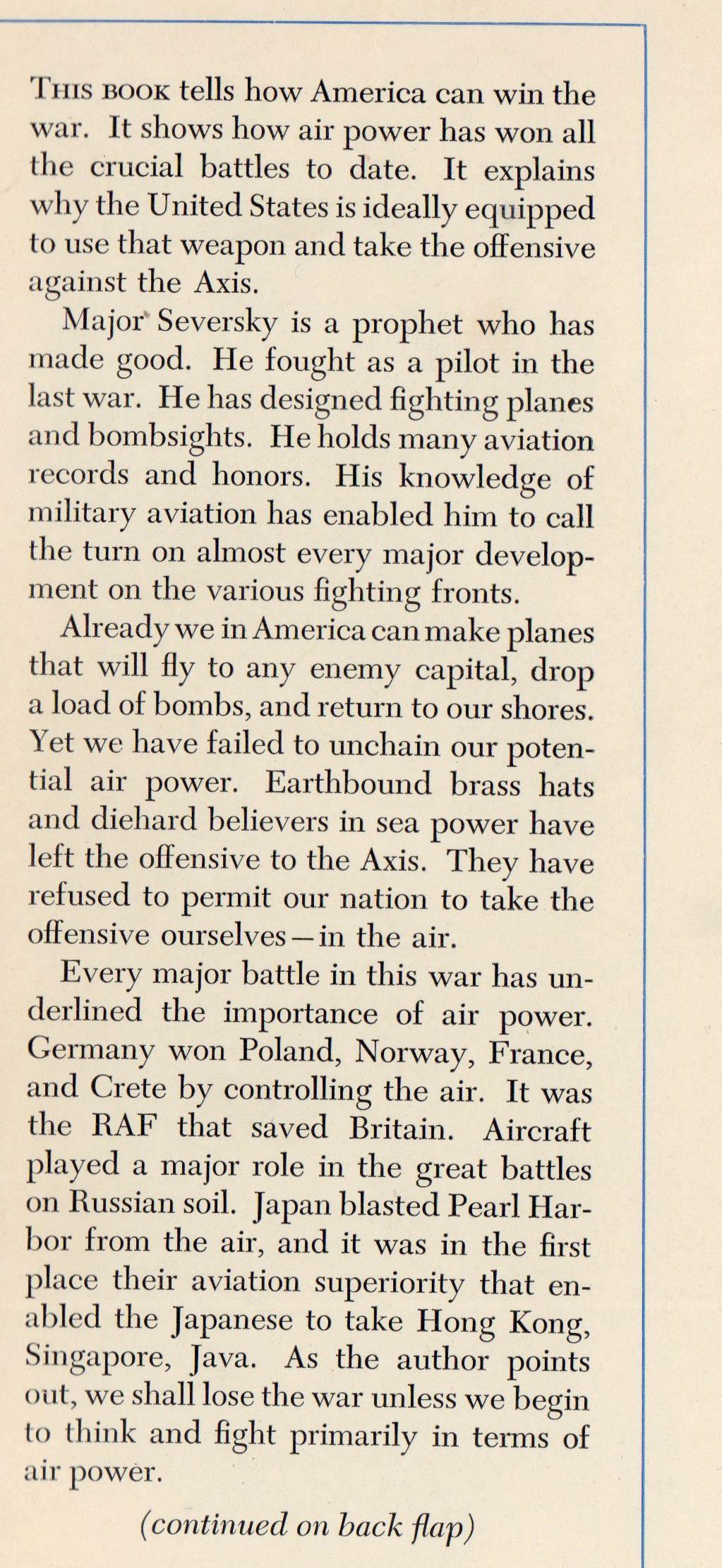 victory through air power pdf