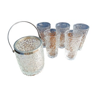 Bubble Glass Highball Set with Ice Bucket