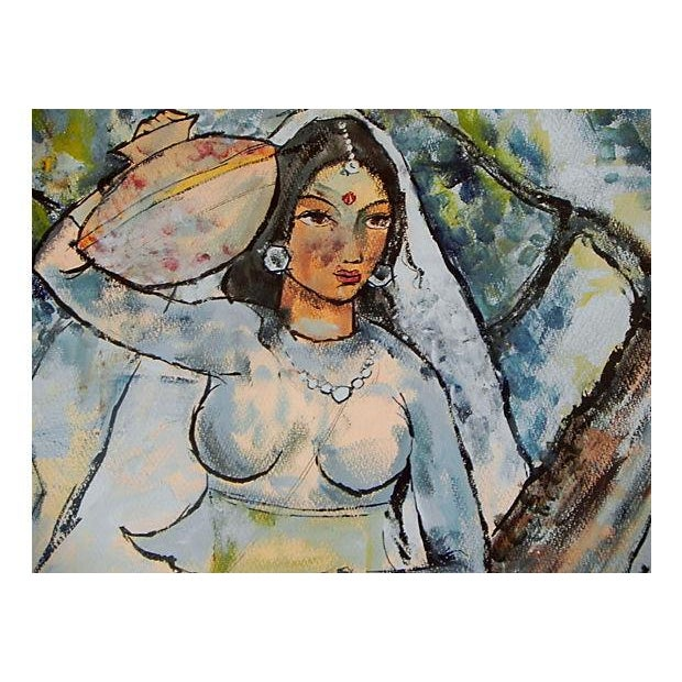 Woman W/ Water Jug Painting - Image 2 of 3