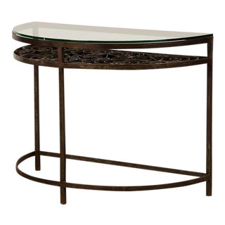 Demilune (half-moon) Iron Console Table