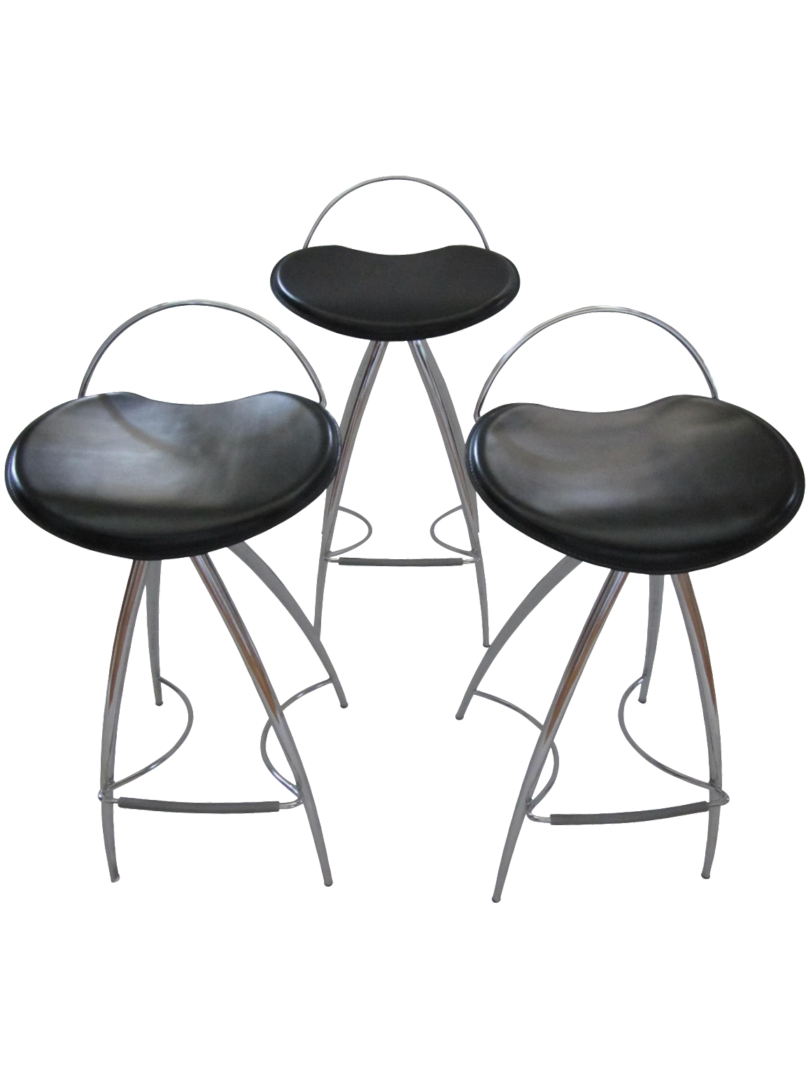 Cattelan Italian Leather Counterstools Set Of 3 Chairish