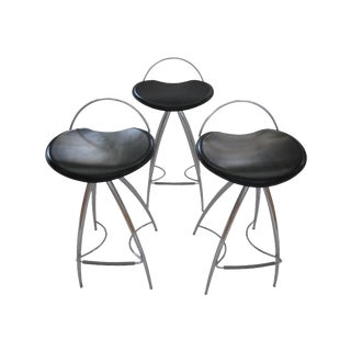 Cattelan Italian Leather Counterstools - Set of 3