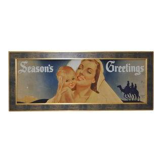 "1950s ""Seasons Greetings"" Camel Illustration"