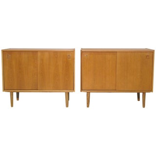 Danish Modernist Oak Cabinets - A Pair