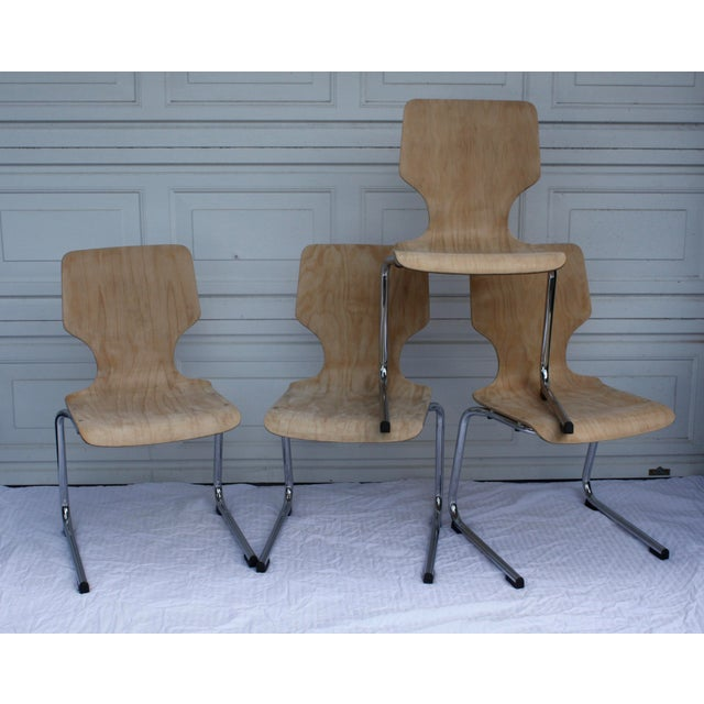 1960s West German Pagwood Chairs- Set of 4 - Image 2 of 6
