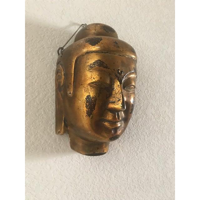 Vintage Gold Leaf Buddha Head - Image 3 of 5