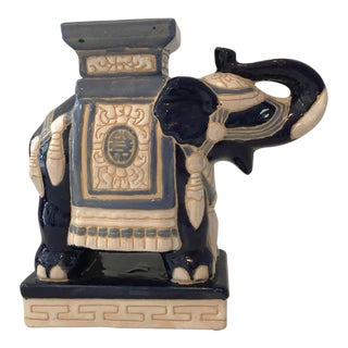 Blue & White Ceramic Elephant