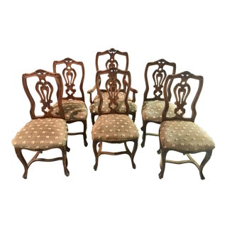 Antique Chippendale French Country Dining Chairs - Set of 6