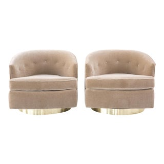 Set of Baughman Swivel Chairs - Pair