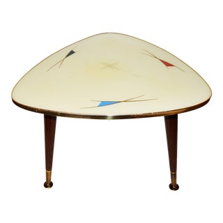 Vintage French Modernist Tripod Coffee Table