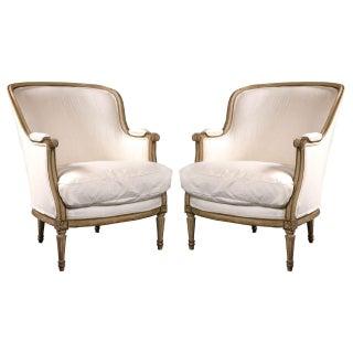 Maison Jansen Louis XVI Bergere Chairs - A Pair