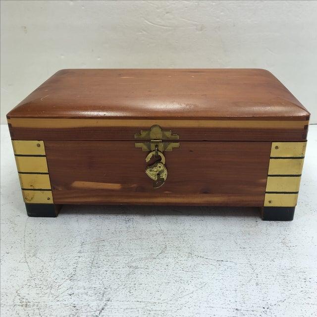 Deco-Style Cedar Keepsake Box - Image 2 of 11