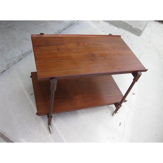Image of Danish Modern Teak Bar Cart by Poul Hundevad