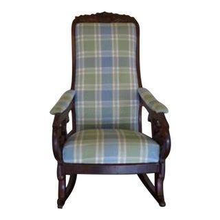 Antique Victorian Walnut Rocking Chair