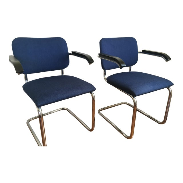 Marcel Breuer For Thonet Cesca Chairs A Pair Chairish